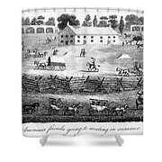 Quaker Meeting, 1811 Shower Curtain by Granger