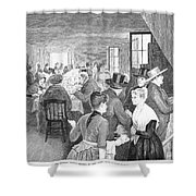 Quaker Meeting, 1888 Shower Curtain