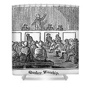 Quaker Worship, 1842 Shower Curtain