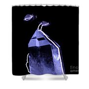 Quartz Crystal & Sparks Shower Curtain