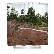 Quartz Vein Shower Curtain