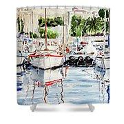 Quattro Barche Al Pennello Di Bonaria Shower Curtain