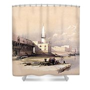 Quay At Suez Febrary 11th 1839 Shower Curtain