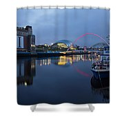 Quayside Landmarks Shower Curtain