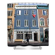 Quebec City Street View Shower Curtain