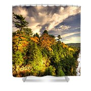 Quechee Gorge In The Fall  Shower Curtain