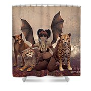 Queen Of Cats Shower Curtain