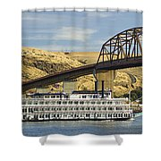 Queen Of The West Paddlewheeler Shower Curtain