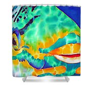 Queen Parrotfish Shower Curtain by Daniel Jean-Baptiste