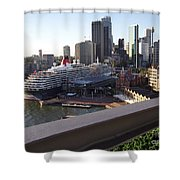 Queen Victoria Berthed In Sydney Shower Curtain