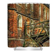 Queens' College And Mathematical Bridge Shower Curtain