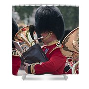 Queens Guards Band Shower Curtain