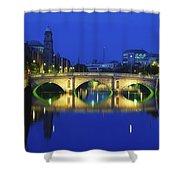 Queens Street Bridge, River Liffey Shower Curtain