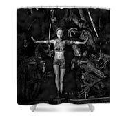 Question Of Balance Shower Curtain