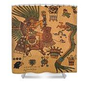 Quetzalcoatl, Aztec Feathered Serpent Shower Curtain