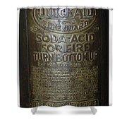 Quick Aid Extinguisher Shower Curtain