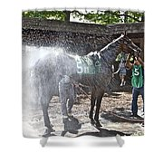 Quick Shower Before The Race Shower Curtain
