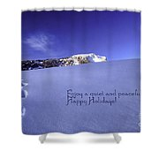Quiet And Peaceful Christmas Shower Curtain by Sabine Jacobs