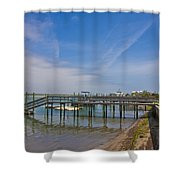 Quiet At The Sound Shower Curtain