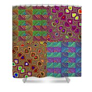 Quilted Fractals Shower Curtain