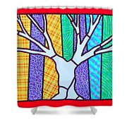 Quilted Winter Tree Shower Curtain