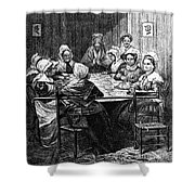 Quilting Party, 1864 Shower Curtain