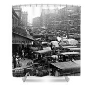 Quincy Market From Faneuil Hall - Boston - C 1906 Shower Curtain