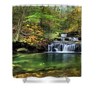 Quinn Run Cascades Shower Curtain