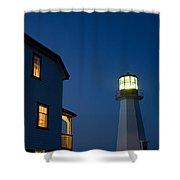 Quirpon Island Lighthouse And Inn Shower Curtain