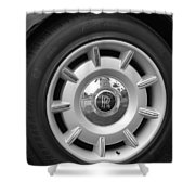R R Wheel Shower Curtain