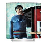 R. Sylvester Founder Maritime Museum Shower Curtain