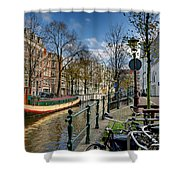 Raamgracht And Groenburgwal. Amsterdam Shower Curtain