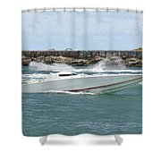 Race Boat Shower Curtain
