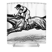 Race Horse, 1900 Shower Curtain