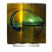 Race To Obsolescence  Shower Curtain