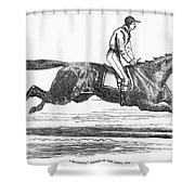 Racehorse, 1856 Shower Curtain