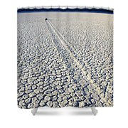 Racetrack Death Valley Trail Of Mystery Shower Curtain