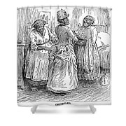 Racial Caricature, 1886 Shower Curtain
