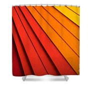 Radial Background Shower Curtain