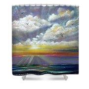Radiance - Square Sunset Shower Curtain