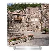 Radicofani Italy Street Scene Shower Curtain