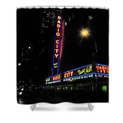 Radio City Music Hall - Greeting Card Shower Curtain
