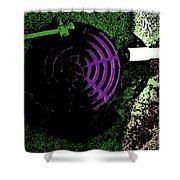 Radioactive Drain Shower Curtain