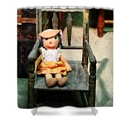 Rag Doll In Chair Shower Curtain