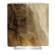 Rainbow On The Rocks Shower Curtain