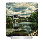 Rail Swing Bridge Shower Curtain