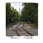 Rail To The Forest Shower Curtain