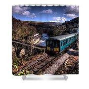 Railcar At Berwyn Shower Curtain