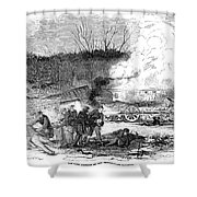 Railroad Accident, 1853 Shower Curtain