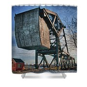 Railroad Bridge 10615c Shower Curtain